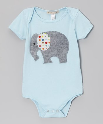 Light Blue Elephant Bodysuit - Infant