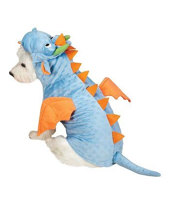 Blue & Orange Dragon Pet Costume