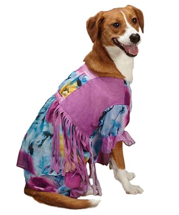 Purple & Blue Hippy Hound Pet Costume