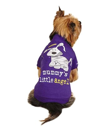 Purple 'Mummy's Little Angel' Pet Tee