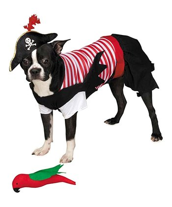 Red & Black Pirate Pet Costume
