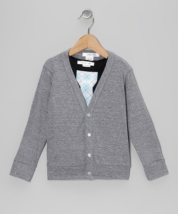 Heather Gray Lil' Mr. Cardigan & Tie Tee - Toddler & Boys