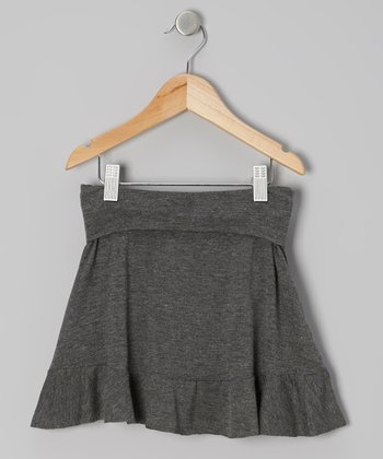 Gray Yoga Skirt - Toddler & Girls