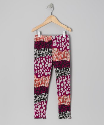 Purple Groovy Wave Leggings - Toddler & Girls
