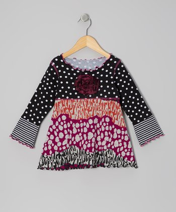 Purple Groovy Wave Top - Toddler & Girls