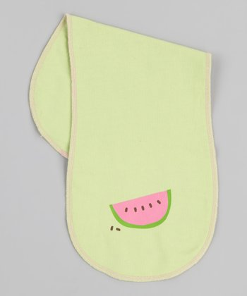 Green Watermelon Burp Cloth
