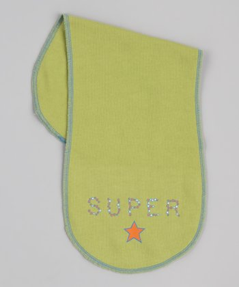 Green 'Super' Star Burp Cloth