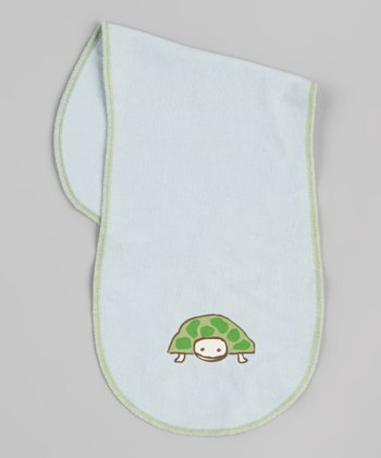 Light Blue Turtle Burp Cloth