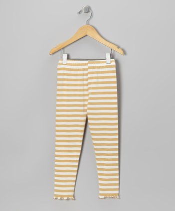 Tan Stripe Leggings - Toddler & Girls