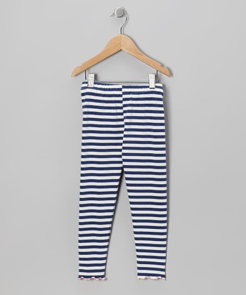 Navy Stripe Leggings - Toddler & Girls