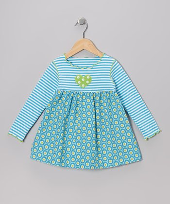 Blue Flower Swing Top - Toddler & Girls