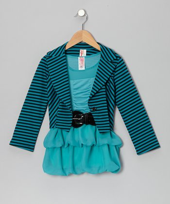 Mint Stripe Dress & Jacket