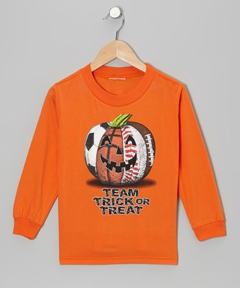 Orange 'Team Trick or Treat' Tee - Toddler & Kids