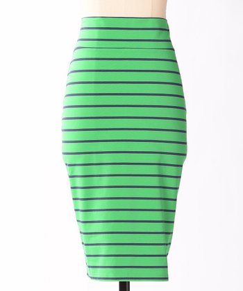 Green Stripe Third Street Skirt