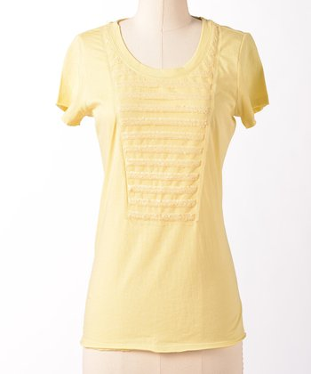 Lemon Sequin Between the Lines Tee