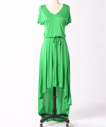 Green Camden Hi-Low Dress