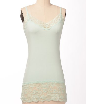 Icy Mint Double Lace Camisole