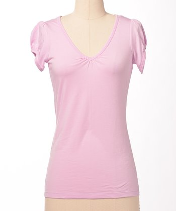 Pink Favorite V-Neck Tee
