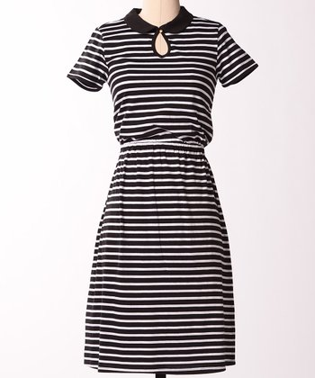 Black Stripe Prepster Dress