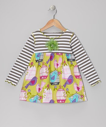 Citrus Bird Lettuce Swing Top - Toddler & Girls