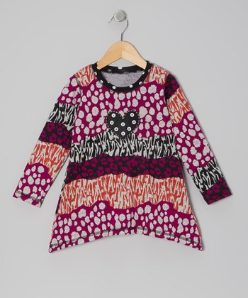 Purple Groovy Wavy Top - Toddler & Girls