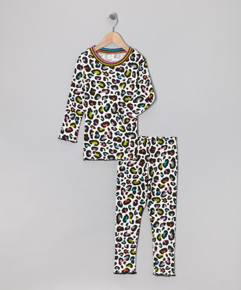 Rainbow Leopard Pajama Set - Infant, Toddler & Girls