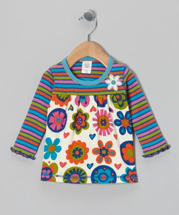 White Mod Flower Top - Infant