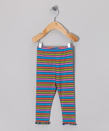 Royal Multi Stripe Leggings - Infant