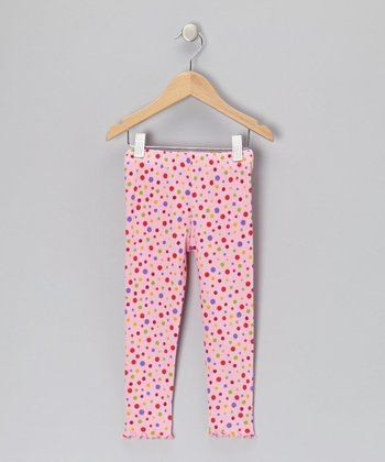 Pink Polka Dot Leggings - Toddler & Girls