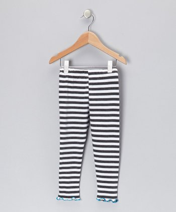 Gray Stripe Leggings - Toddler & Girls