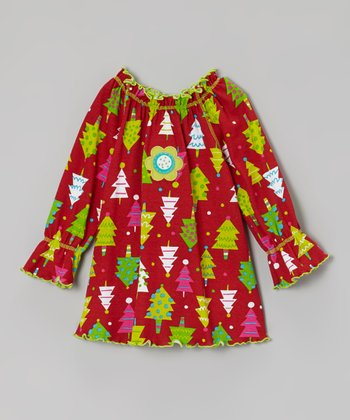 Red Tree Peasant Top - Infant, Toddler & Girls