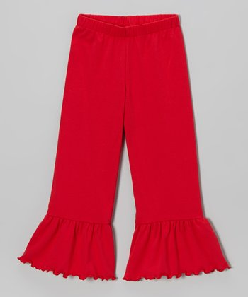 Red Ruffle Pants - Toddler & Girls