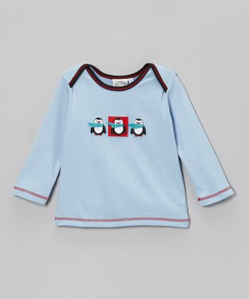 Light Blue Penguin Tee - Infant
