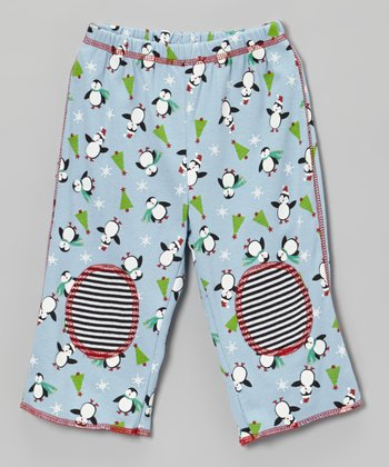 Blue Penguin Pants - Infant