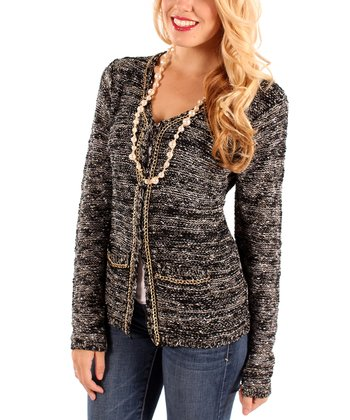 Black Chain Cardigan