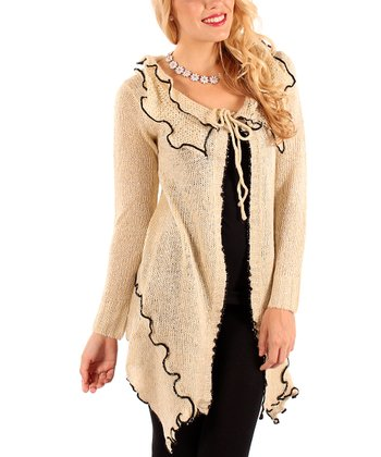 Cream Ruffle Cardigan