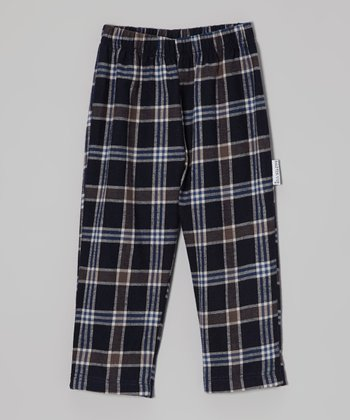 Gray & Navy Plaid Flannel Pants - Toddler & Boys