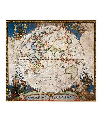 Eastern Hemisphere Map of Discovery