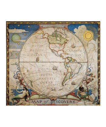 Western Hemisphere Map of Discovery