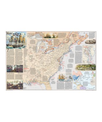 Battles of the Revolutionary War & War of 1812 Wall Map