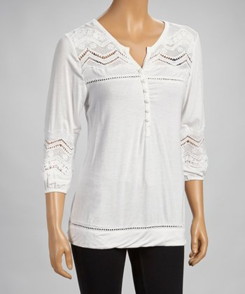 White Crocheted Tunic