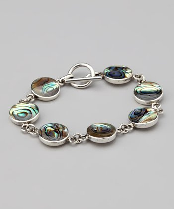 Abalone & Sterling Silver Toggle Bracelet
