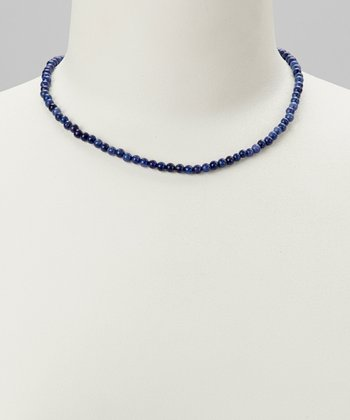 Sodalite & Sterling Silver Beaded Necklace