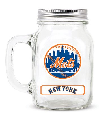 New York Mets Mason Jar & Lid