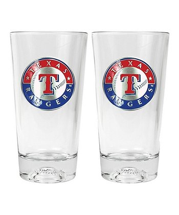 Texas Rangers Pint Glass - Set of Two