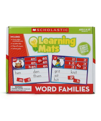 Word Families Learning Mats Set