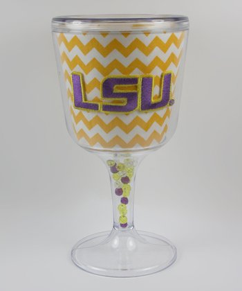 Yellow Zigzag LSU Goblet