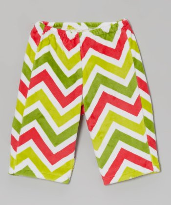 Watermelon & Lime Zigzag Velour Pants - Infant