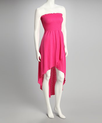 Peony Shirred Strapless Dress