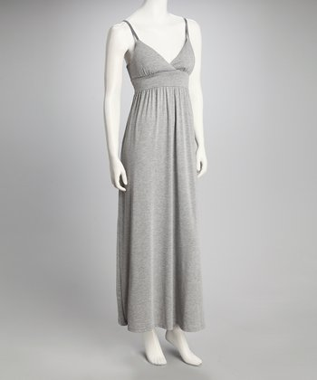 Gray Sash Maxi Dress